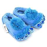monster feet socks - Ibeauti Warm Funny Furry Monster Hobbit Feet Home Shoes Slipper for Adults (Blue)