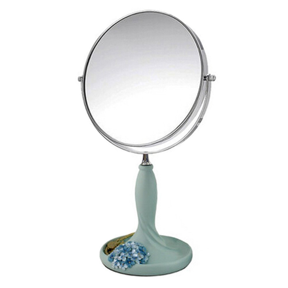 Continental Make-up Mirror 7-Inch Tabletop Two-Sided Cosmetic Mirror Blue Blancho Bedding
