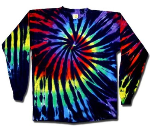Swirl Tie Dye Shirt (Sundog Stained Glass Swirl Tie Dye T-shirt - Long Sleeve, Large)