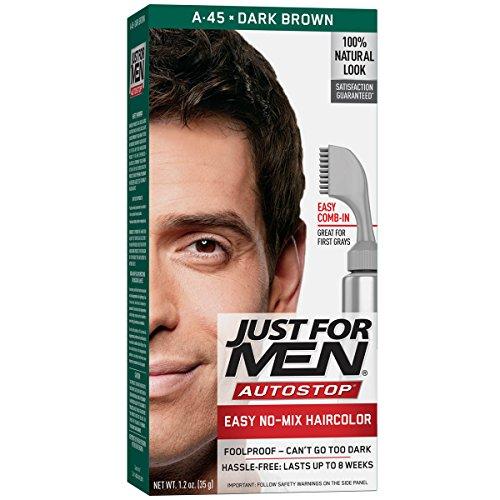 Just For Men AutoStop Men's Comb-In Hair Color, Dark Brown
