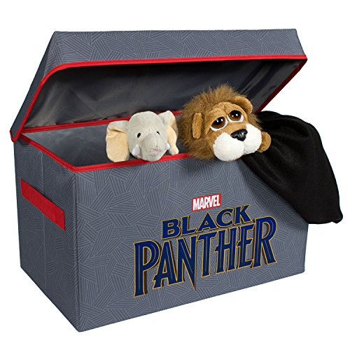 Black Panther Collapsible Kids Toy Storage Chest by Marvel - Flip-Top Toy Organizer Bin for Closets, Kids Bedroom, Boys & Girls Toys - Foldable Toy Basket Organizer with Strong Handles & (Marvel Storage System)