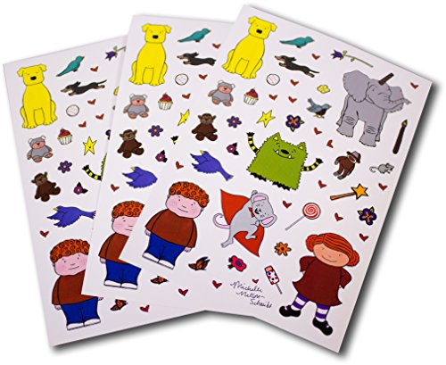 Mns Creative Sticker Pack   3 Sheets 5  X 7  Of Fun Stickers Featuring The Whatif Monster  Jonathan James  Cordelia  Bob Is A Unicorn  Dog And Mouse  And More Characters By Michelle Nelson Schmidt