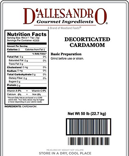 Decorticated Cardamom - 50 Lb Bag by Angelina's Gourmet (Image #1)