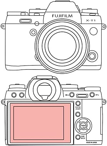 Martin Fields Overlay Plus Screen Protector with Advanced Glass Hard Coating for FujiFilm X-Pro 1
