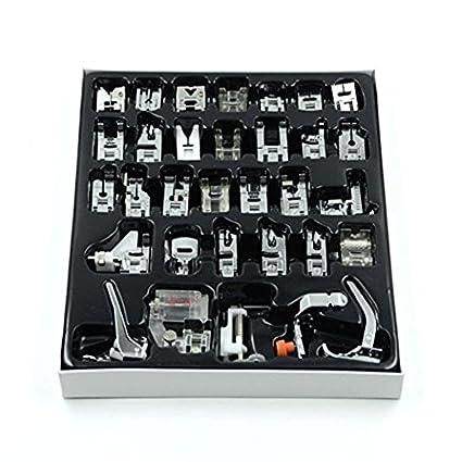 32 piezas multifuncional prensatelas para maquina de coser Presser juego de pies para Brother Cantante Toyota