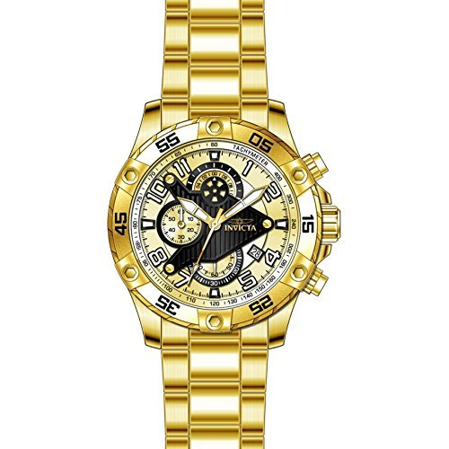 Multifunction Dial Gold (Invicta Men's 26098 S1 Rally Quartz Multifunction Gold Dial Watch)