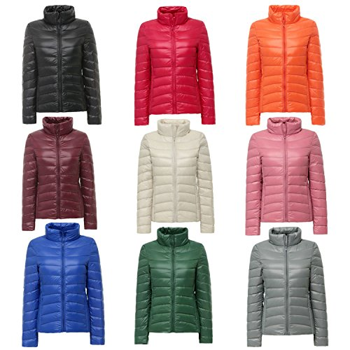 Premium Quality Ultra-Lightweight Duck Down Women Jacket Pre-Winter Warm Insulated Puffer Outdoor Ladies Coats Purple