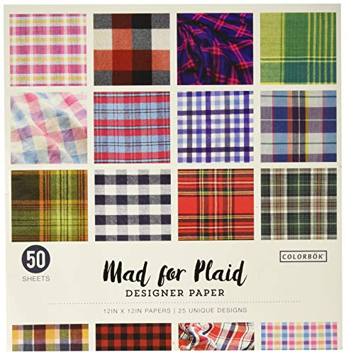 12in Designer Paper Mad for Plaid (Style may -