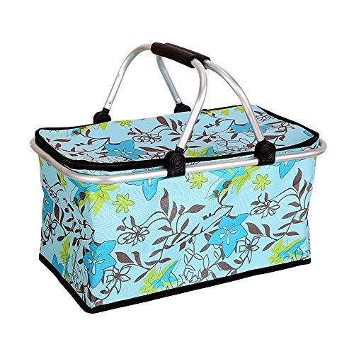 - Kylinyyl Insulated Picnic Basket,Strong Aluminum Frame,Waterproof Lining,Collapsible Design Take it Camping,Picnicking,Lake Trips,or Family Vacations,Keeps Food Cold (Color : A)
