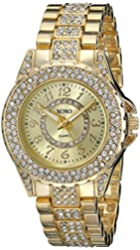 XOXO Women's XO5747 Analog Display Analog Quartz Gold-Tone Watch