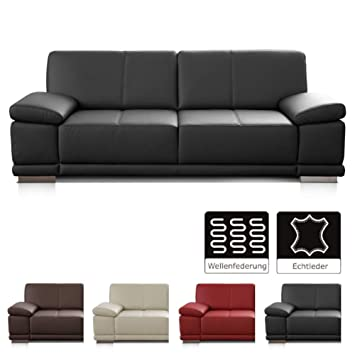 Cavadore 25 Sitzer Sofa Corianne Kleine Echtleder Couch Im