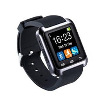 KJH21 U80 Reloj Inteligente Bluetooth Deportes & Salud Antipérdida Muñequera Reloj Teléfono Mate Smartphones iOS Android Apple, Negro, Tamaño Libre