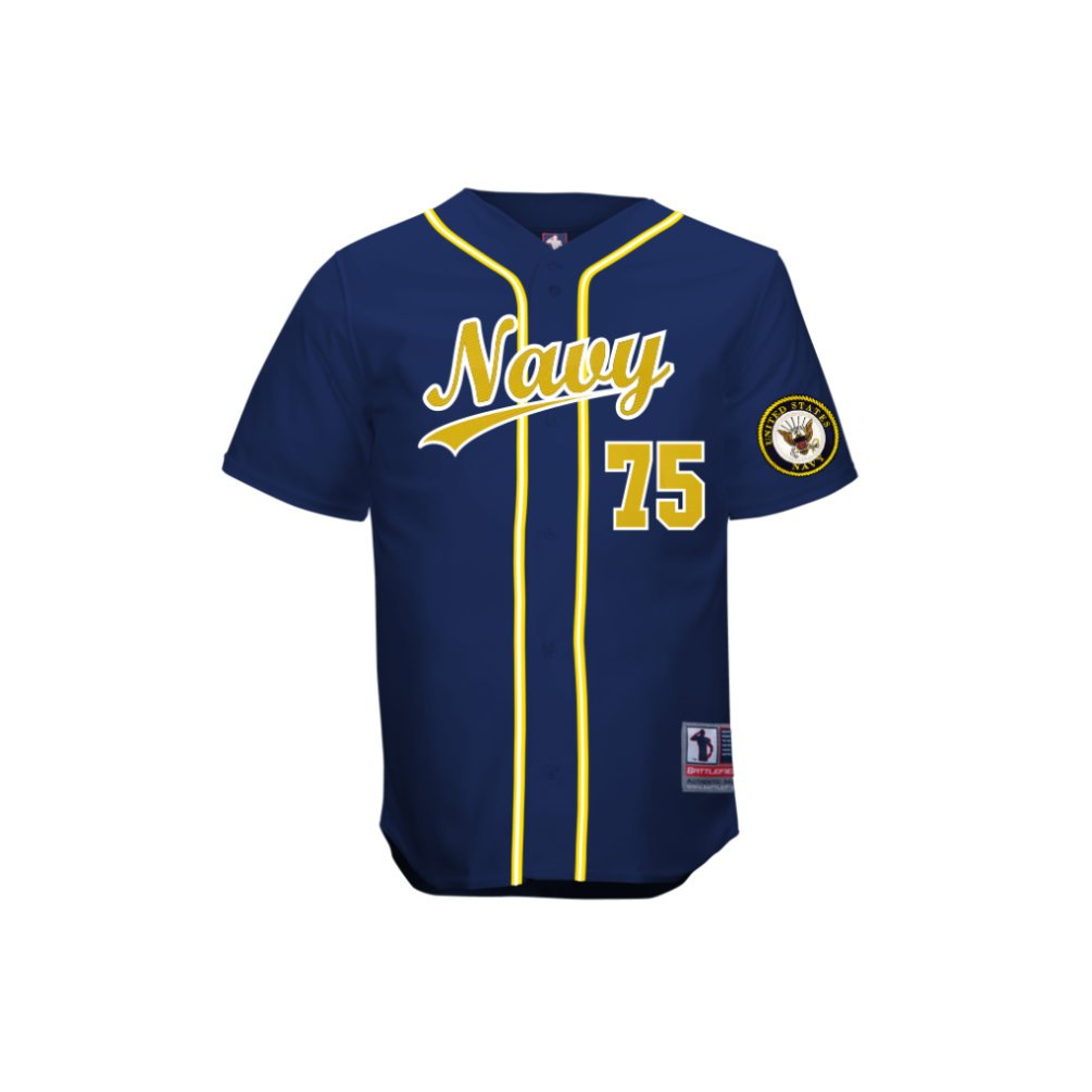 BattlefieldコレクションNavy Authentic Baseball Jersey ( $ 74.99 ) B00FJV4S76ネイビー 2XO