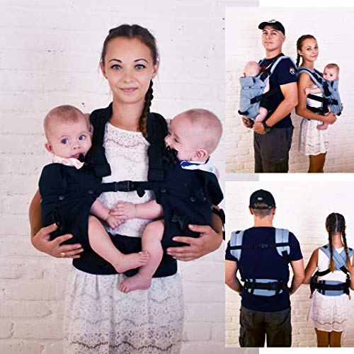 Malishastik Twins Carrier Adapt Front Carry Black