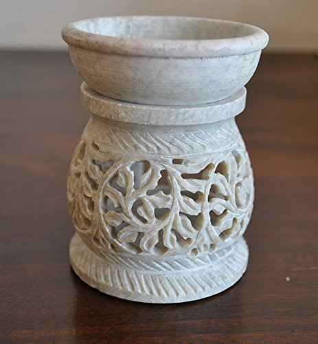 StarZebra Gift Deals - Essential Oil Diffuser, Oil Burner, Oil Warmer with Tea Light Holder for Aromatherapy - Artisan Handcarved Soapstone 3