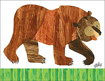 Amazon.com: Oopsy Daisy Fine Art for Kids Eric Carle\'s Brown Bear ...
