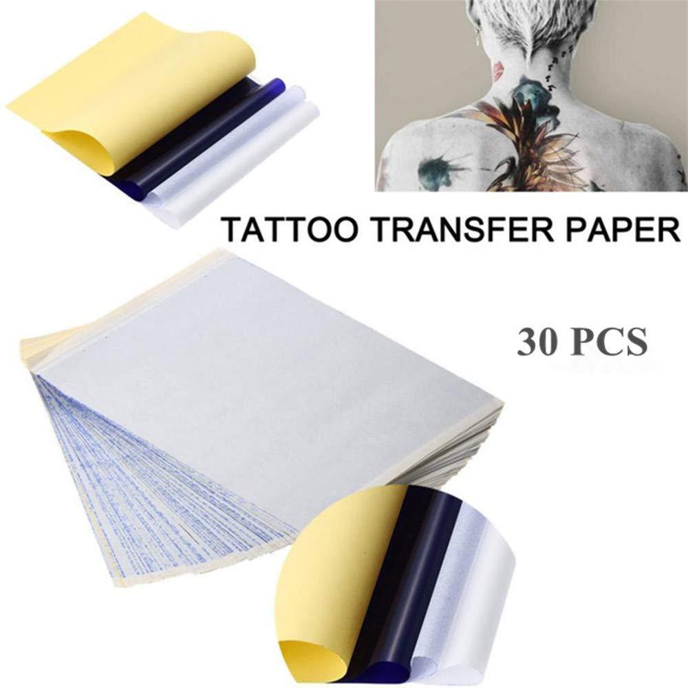 30 piezas de papel de transferencia para tatuajes, 4 capas, 8,5 x ...