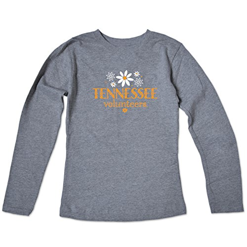 College Kids NCAA Tennessee Volunteers Girls Long Sleeve Tee, Size 10-12/Medium, Varsity Oxford