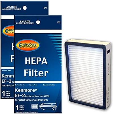 EnviroCare Replacement Vacuum HEPA Filters for Kenmore Progressive EF-2 Machines 2 Filters