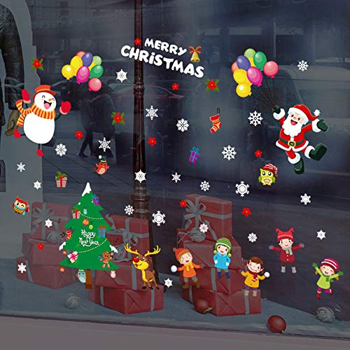 Snow Shiv (Wall Stickers Christmas Restaurant Mall Decoration Snow Glass Window Removable Stickers Home Garden Kitchen Accessories Decorative Stickers Wall murals)