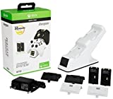 PDP Energizer Xbox One Controller Charger with Rechargeable Battery Pack for Two Wireless Controllers Charging Station White