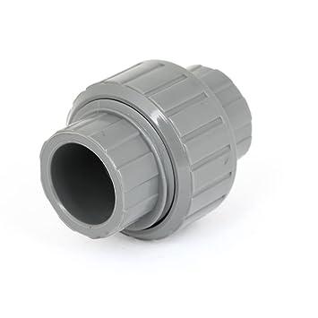 Dealmux Ersatz 20mm Lochdurchmesser Grau Pvc Kunststoff Wasserrohr