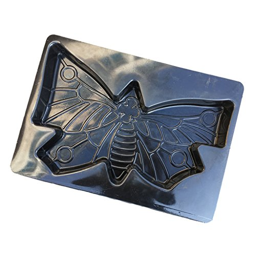 Dolity 1 Piece Stepping Stone Butterfly Mold Concrete Cement Mould for garden path (Stepping Abs Plastic Mold Stone)