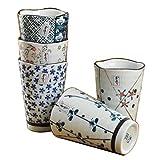 5PCS Japanese-Style Liquor Sake Set Sushi Ceramic Cups Temperature Wine Glasses -A17