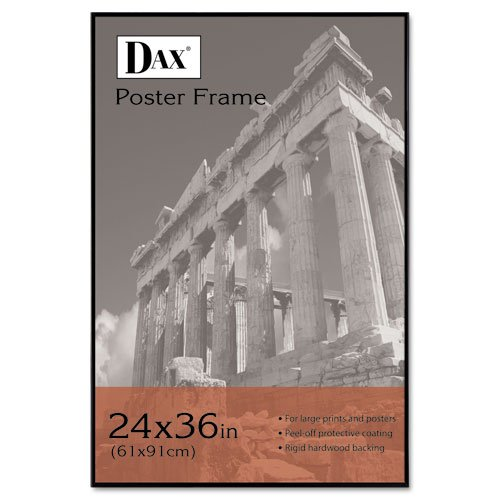 DAX : Coloredge Poster Frame w/Plexiglas Window, 24 x 36, Clear Face/Black Border -:- Sold as 2 Packs of - 1 - / - Total of 2 Each