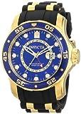Invicta Men's 6993 Pro Diver Collection GMT Blue Dial Black Polyurethane Watch