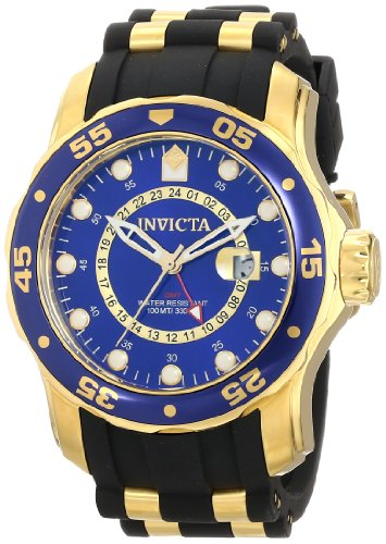 Invicta Men's 6993 Pro Diver Collection GMT Blue Dial Black Polyurethane Watch