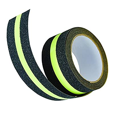 Moolon Anti Slip Tape Glow in Dark Safety Tape Adhesive for Stairs Indoor or Outdoor Floor Tread Step 2'' x 16.4'