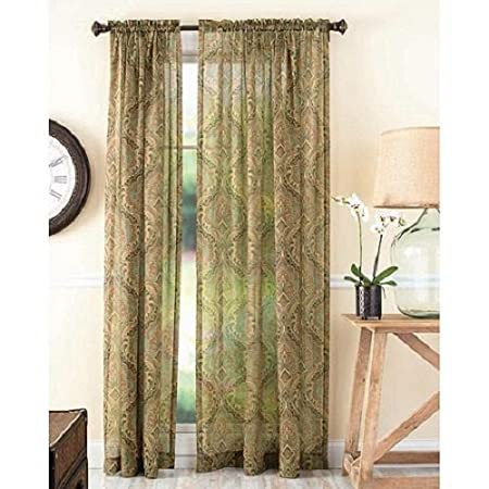 Amazon.com: Better Homes And Gardens Tapestry Sheer Curtain Panel: Home U0026  Kitchen