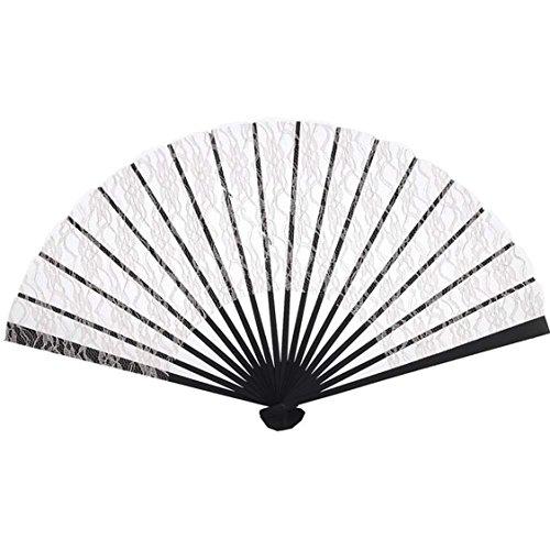 [Beige Lace Hand Fan] (Fan Costumes)