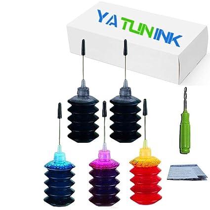 yatunink 5 Pack Premium dye kit de recarga de 100 ml de ...