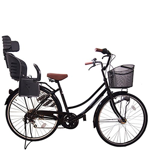 Lupinusルピナス 自転車 26インチ LP-266UA-KNRJ-BK 軽快車 シマノ外装6段ギア オートライト 樹脂製後子乗せブラック B073LS6QP9 ブラック ブラック
