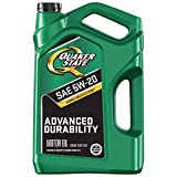 Quaker State 550044965 Advanced Durability 5W-20 Motor Oil (SN/GF-5), 5 quart