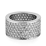 Mcsays Hip Hop Jewelry Iced Out Full Crystal Ring CZ Bling Gold/ Silver Plated Finger Rings for Men/Women Dope Gifts(Color:gold,Size:S)