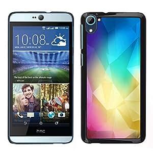 // PHONE CASE GIFT // Duro Estuche protector PC Cáscara Plástico Carcasa Funda Hard Protective Case for HTC Desire D826 / Polígono Colores /