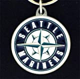 MLB Seattle Mariners Carved Key Chain, Metal