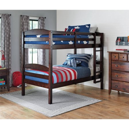 Better Homes and Gardens Leighton Twin Over Twin Wood Bunk Bed, Mocha from Better Homes & Gardens