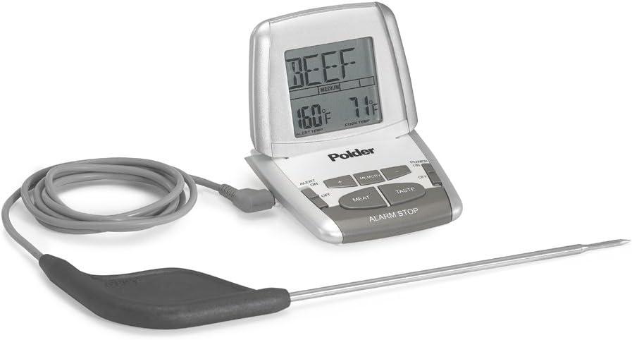 Polder Horneado Deluxe Ecualizador term/ómetro con sonda Ultra Blanco