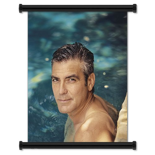 George-Clooney-Actor-Fabric-Wall-Scroll-Poster-16-X-20-Inches