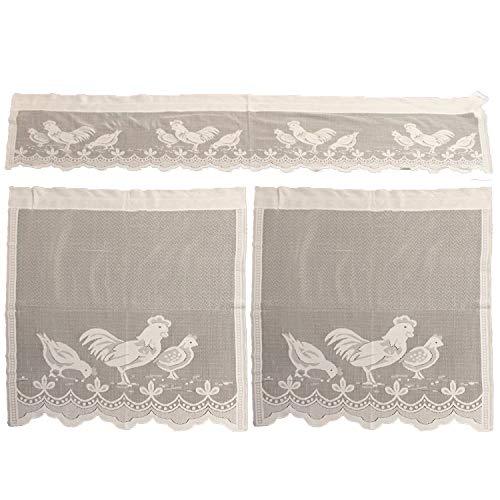 Easter Decorations, Kitchen Curtain Set 1PCS 152x36cm