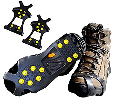 Limm Ice Traction Cleats Pro - Grips Quickly and Easily Over Footwear for Snow and Ice - Portable -Sizes: S/M/L/XL