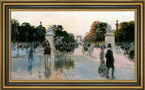 Art Oyster Georges Stein Les Champs Elysees Au Petit Matin - 15