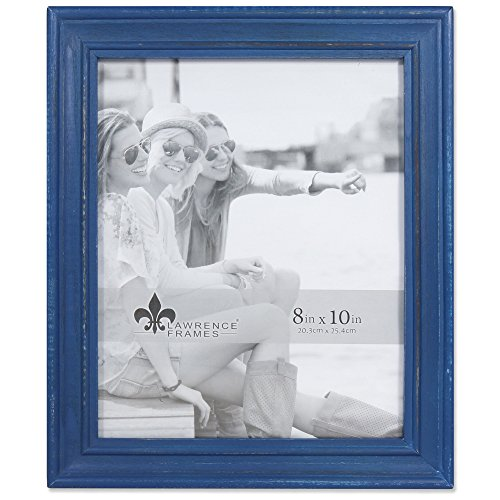 Lawrence Frames Weathered Woods 8x10 Durham Navy Blue Picture Frame