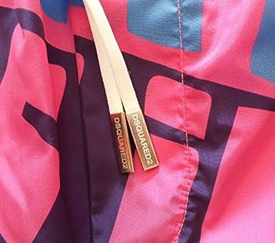 Dsquared Costume da Bagno Uomo Boxer Corto D7B641530.433 Rosa Azzurro 48   Amazon.it  Abbigliamento 9f0737754d27