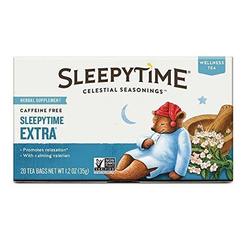 Celestial Seasonings Sleepytime Extra Wellness Tea Herbal Supplement, 20 Count (Pack of - Herb Seasonings Sleepytime Tea Celestial