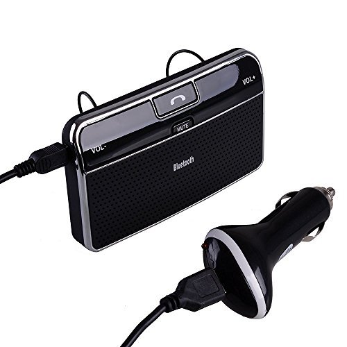 AGPtek Bluetooth 4.0 Car Kit In-car Hands Free Speakerphone/ MP3 Player/ Music Receiver with Clip